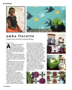 AMBA FLORETTE IN HOME DESIGN MAGAZINE 1